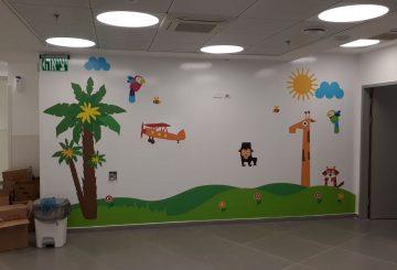מיתוג קיר בסגנון מותאם לילדים