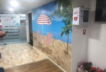 מיתוג קיר בסגנון חוף ים