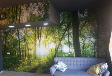 מיתוג קיר בסגנון יער